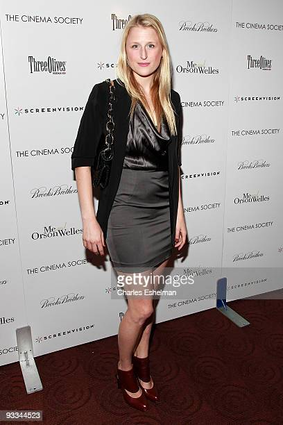 """Actress Mamie Gummer attends a screening of """"Me And Orson Welles"""" hosted by the Cinema Society, Screenvision and Brooks Brothers at Clearview Chelsea..."""