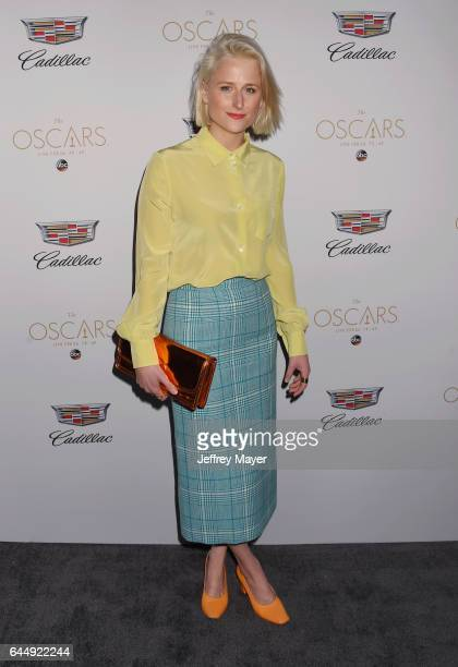Actress Mamie Gummer attends Cadillac's 89th annual Academy Awards celebration at Chateau Marmont on February 23 2017 in Los Angeles California