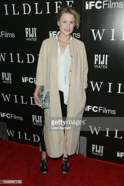 Actress Mamie Gummer attends Los Angeles Premiere For IFC Films' 'Wildlife' at ArcLight Hollywood on October 9 2018 in Hollywood California