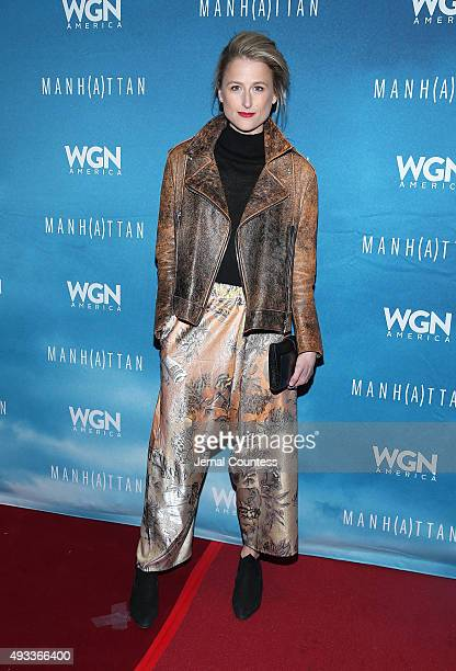 Actress Mamie Gummer attends the 11th Annual New York Television Festival screening of Manhattan Season Two at the SVA Theater on October 19 2015 in...