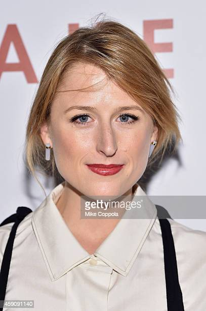 Actress Mamie Gummer attends the Cake screening hosted by The Cinema Society Instyle at Tribeca Grand Hotel on November 16 2014 in New York City