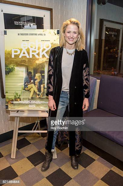 Actress Mamie Gummer attends the 'Echo Park' New York screening and QA at IFC Center on April 15 2016 in New York City