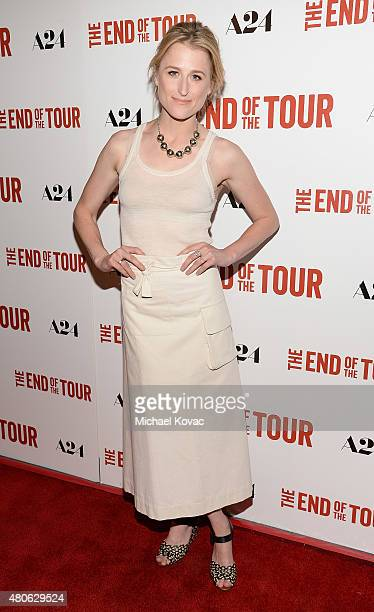 Actress Mamie Gummer attends the Los Angeles premiere of A24's The End Of The Tour at The WGA Theater on July 13 2015 in Beverly Hills California