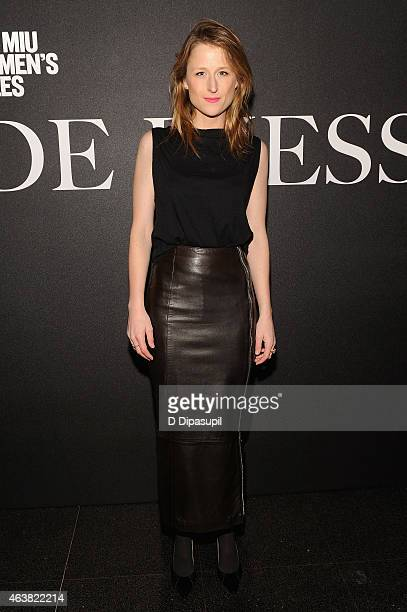 Actress Mamie Gummer attends the Miu Miu Women's Tales 9th Edition 'De Djess' screening on February 18 2015 in New York City
