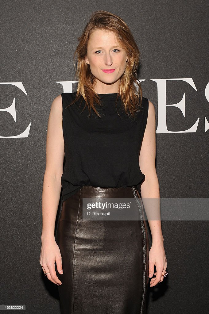 Actress Mamie Gummer attends the Miu Miu Women's Tales 9th Edition 'De Djess' screening on February 18, 2015 in New York City.