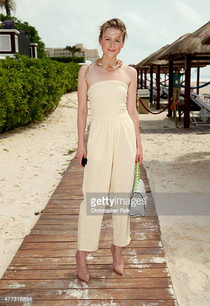Actress Mamie Gummer attends the 'Ricki and the Flash' photo call during Summer Of Sony Pictures Entertainment 2015 at The RitzCarlton Cancun on June...