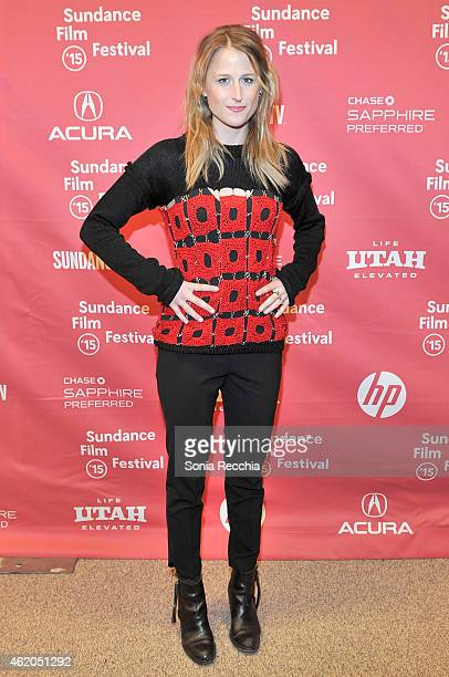Actress Mamie Gummer attends the 'The End Of The Tour' Premiere during the 2015 Sundance Film Festival at the Eccles Center Theatre on January 23...