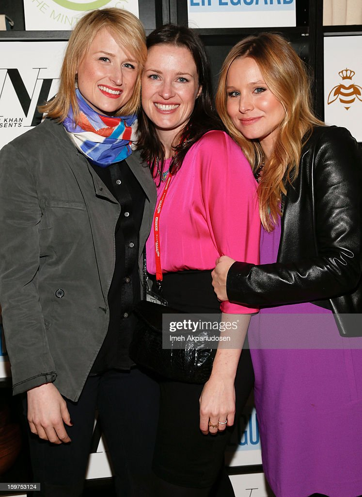 Actress Mamie Gummer, director Liz W. Garcia, and Kristen Bell attend 'The Lifeguard' after party on January 19, 2013 in Park City, Utah.