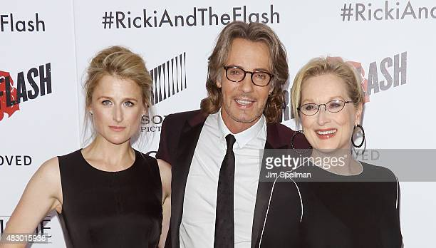 Actress Mamie Gummer musician/actor Rick Springfield and actress Meryl Streep attend the Ricki And The Flash New York premiere at AMC Lincoln Square...