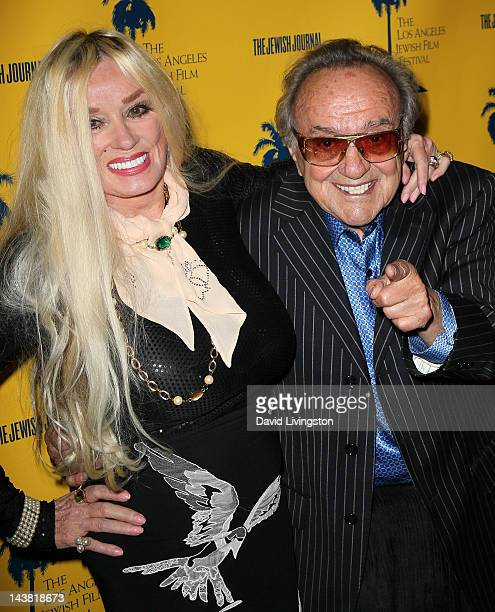 Actress Mamie Van Doren and custom car designer George Barris attend the 7th Annual Los Angeles Jewish Film Festival Premiere of Tony Curtis Driven...
