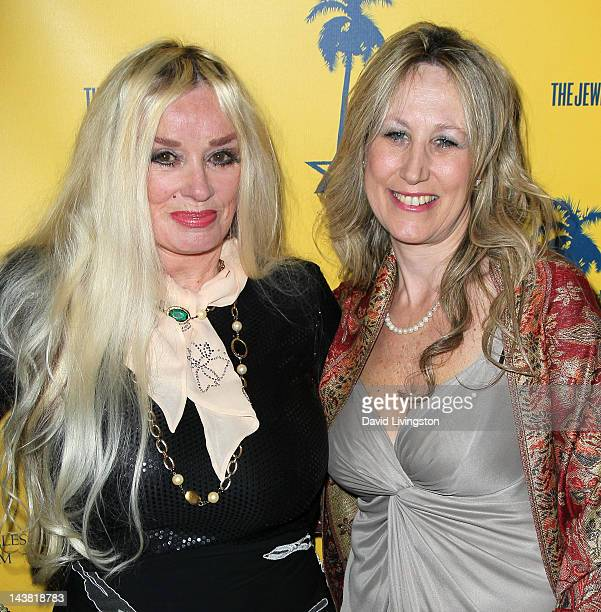 Actress Mamie Van Doren and festival director Hilary Helstein attend the 7th Annual Los Angeles Jewish Film Festival Premiere of Tony Curtis Driven...
