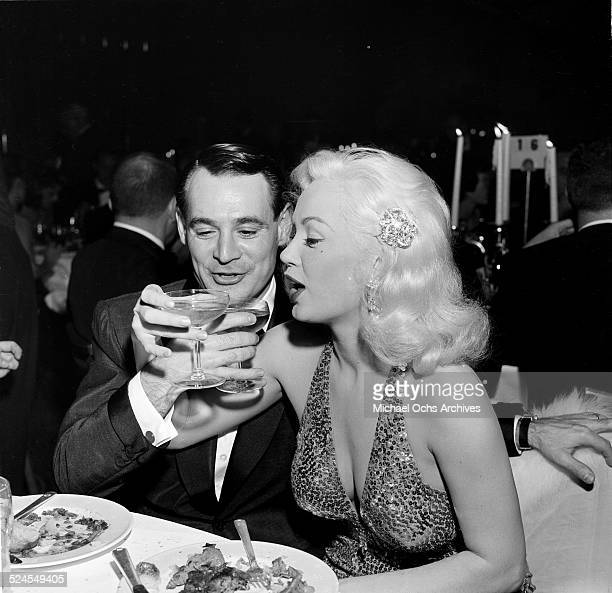 Actress Mamie Van Doren and husband Ray Anthony attend the Thalians Ball in Los Angeles,CA.