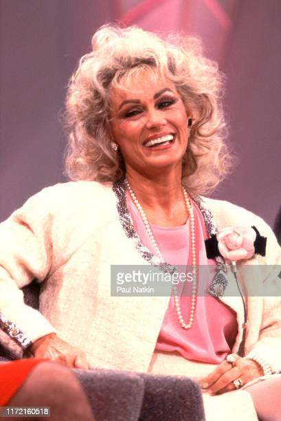 Actress Mamie van Doren appears as a guest on the Oprah Winfrey Show in Chicago Illinois June 12 1988