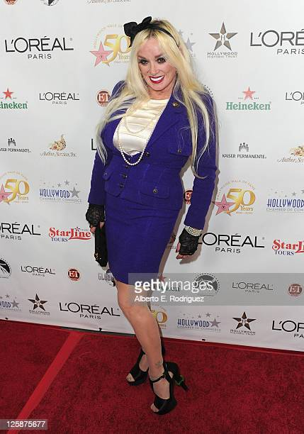 Actress Mamie Van Doren arrives to the Hollywood Walk of Fame's 50th Anniversary Celebration on November 3 2010 in Hollywood California