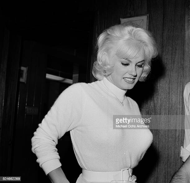 Actress Mamie Van Doren attends an event in Los AngelesCA