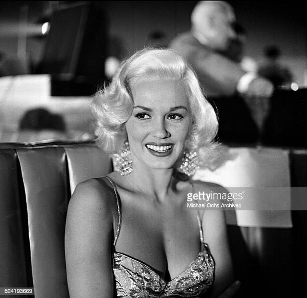 Actress Mamie Van Doren attends the taping of Colgate TV program at the Hilton Hotel in Los AngelesCA