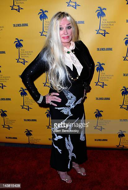 Actress Mamie Van Doren attends the Tony Curtis Driven To Stardom opening night premiere during the 7th Annual Los Angeles Jewish Film Festival on...
