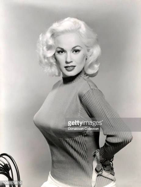 "Actress Mamie Van Doren in a scene from the movie ""High School Confidential"""