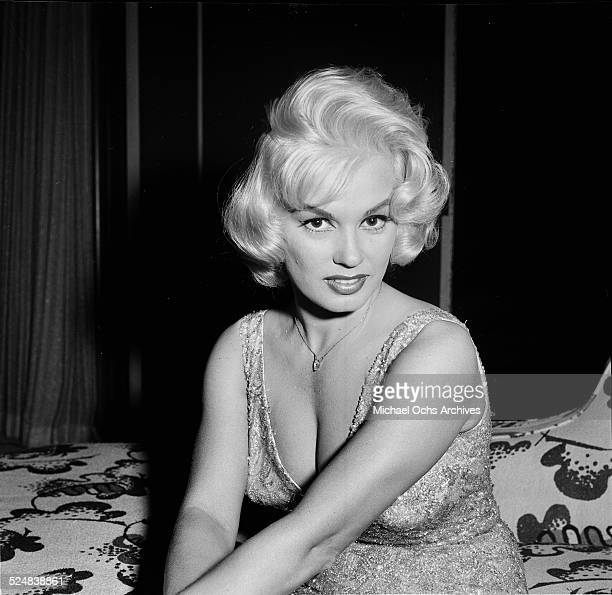 Actress Mamie Van Doren poses in Los AngelesCA