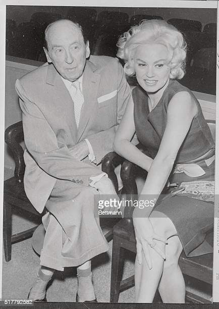 Actress Mamie Van Doren sits in Santa Monica Superior Court this morning with Attorney Jerry Giesler after being granted a divorce from band leader...