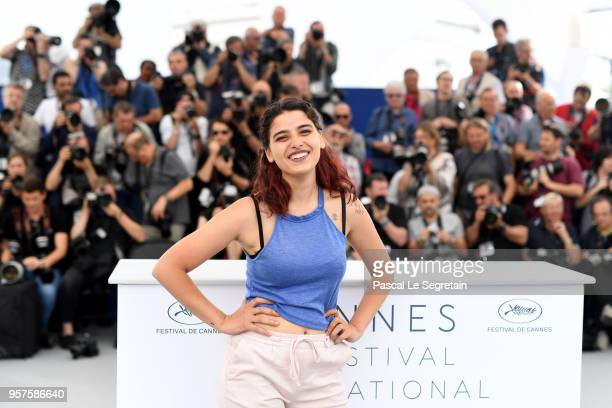 Actress Manal Issa attends the photocall for 'My Favourite Fabric ' during the 71st annual Cannes Film Festival at Palais des Festivals on May 12...