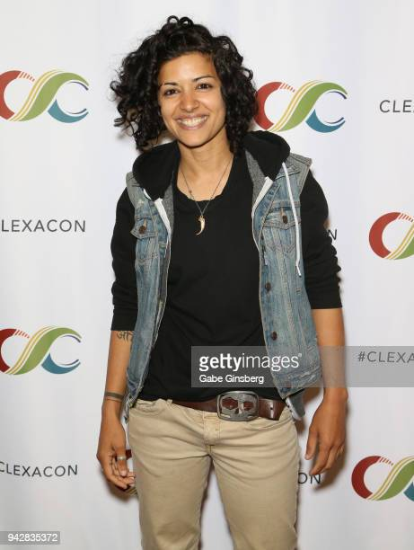 Actress Mandahla Rose attends the ClexaCon 2018 convention at the Tropicana Las Vegas on April 6, 2018 in Las Vegas, Nevada.