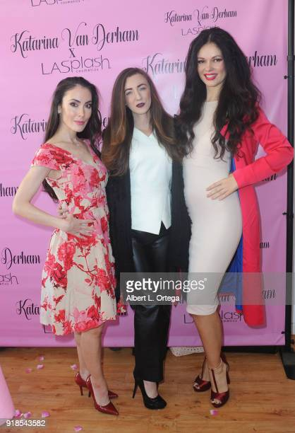 Actress Mandy Amano actress Amber Martinez and model/actress Natasha Blasick attend the Valentine's Day Meet And Greet and Taping of docuseries '90s...