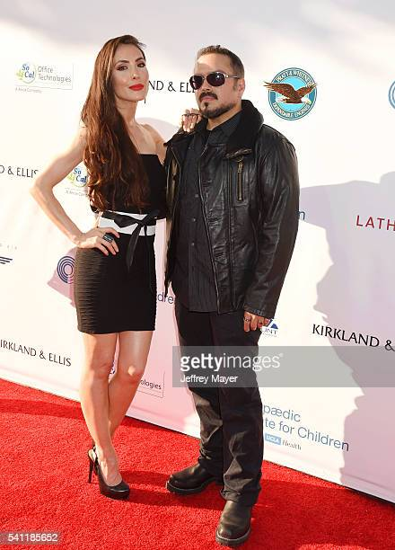 Actress Mandy Amano and director Steven Ayromlooi attend the 2016 Stand For Kids Annual Gala benefiting Orthopedic Institute for Children at...