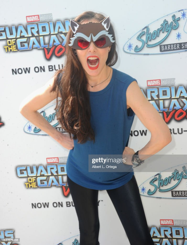 Actress Mandy Amano at Disney's Celebration for the Release Of 'Guardians Of The Galaxy Vol. 2' Blu-ray With Michael Rooker held at Shorty's Barber Shop on August 22, 2017 in West Hollywood, California.
