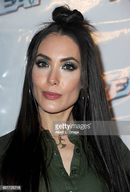 Actress Mandy Amano at the Launch Party For 'Film Threat' Online held at The Berrics on January 14 2017 in Los Angeles California