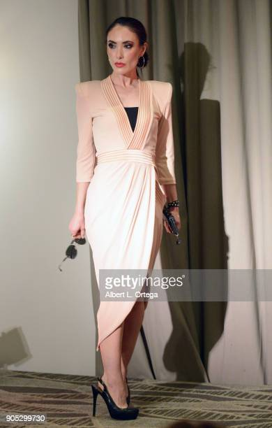 Actress Mandy Amano at the Love Your Body Fashion Show And Shopping Event held at Luxe Sunset Boulevard Hotel on November 19 2017 in Beverly Hills...