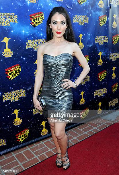 Actress Mandy Amano attends the 42nd annual Saturn Awards at The Castaway on June 22 2016 in Burbank California