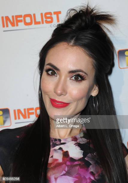 Actress Mandy Amano attends the INFOListcom's PreOscar Soiree and Jeff Gund Birthday Party held at Mondrian Sky Bar on February 27 2018 in West...