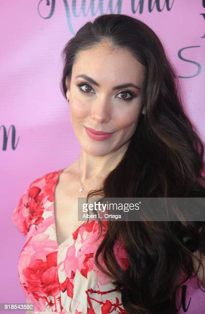 Actress Mandy Amano attends the Valentine's Day Meet And Greet and Taping of docuseries 90s Girl For Katarina Van Derham's New Lipstick Launch...