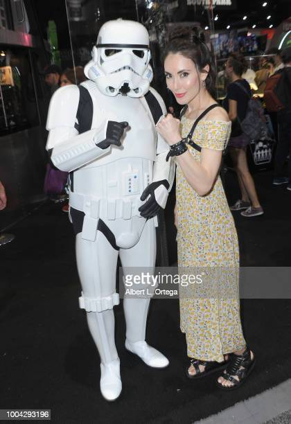 Actress Mandy Amano poses with a Storm Trooper on Sunday day 4 of 2018 ComicCon International held at the San Diego Convention Center on July 22 2018...