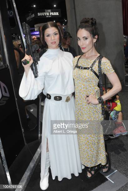 Actress Mandy Amano poses with Princess Leia on Sunday day 4 of 2018 ComicCon International held at the San Diego Convention Center on July 22 2018...