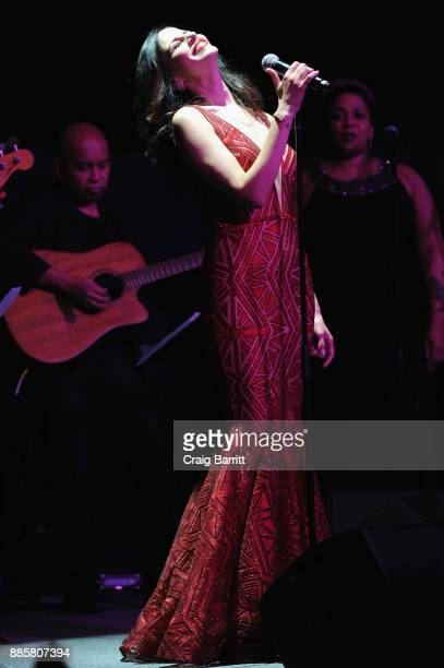 Actress Mandy Gonzalez performs onstage during 'The Bloomberg 50' Celebration at Gotham Hall on December 4 2017 in New York City