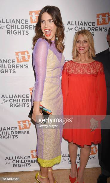 Actress Mandy Moore and Alliance For Children's Rights CEO Janis Spire arrive at the Alliance For Children's Rights 25th Anniversary Celebration at...