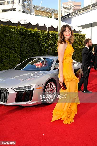 Actress Mandy Moore and Audi at The 68th Emmy Awards on September 18 2016 in Los Angeles California