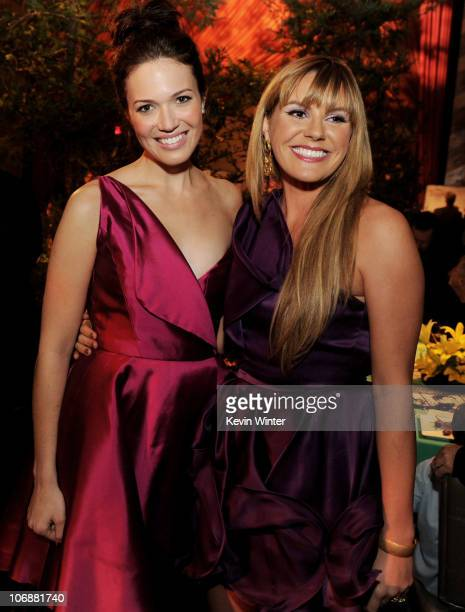 Actress Mandy Moore and singer Grace Potter pose at the after party for the premiere of Walt Disney Pictures' Tangled at Hollywood and Highland on...