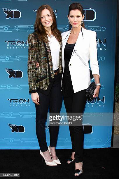 Actress Mandy Moore and Tricia Helfer attend the Disney XD's 'TRON Uprising' press event and reception held at the DisneyToon Studios on May 12 2012...