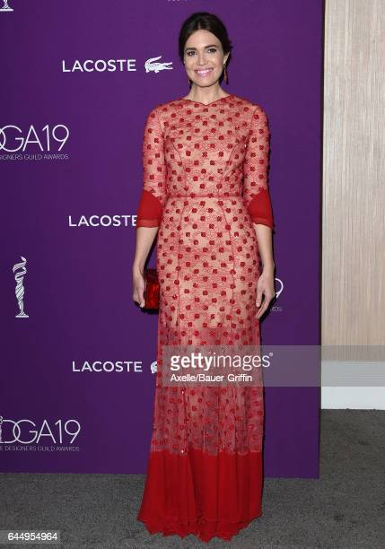 Actress Mandy Moore arrives at the 19th CDGA at The Beverly Hilton Hotel on February 21 2017 in Beverly Hills California