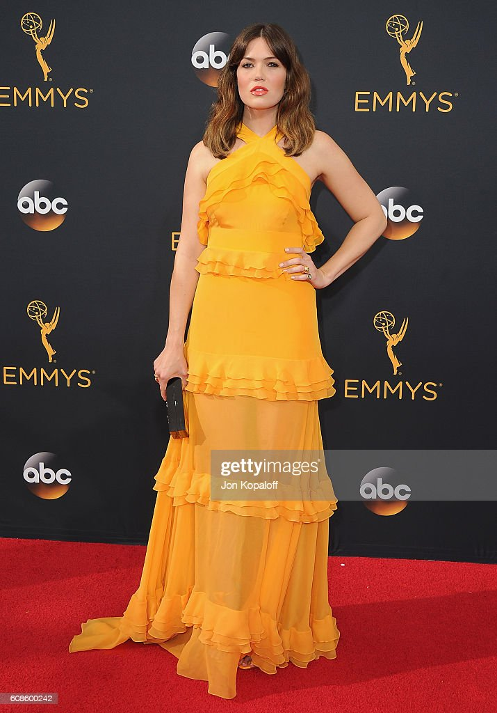 Actress Mandy Moore arrives at the 68th Annual Primetime Emmy Awards at Microsoft Theater on September 18, 2016 in Los Angeles, California.