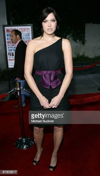 Actress Mandy Moore arrives at the Universal Pictures Premiere of American Dreamz at the ArcLight Theatre on April 11 2006 in Hollywood California