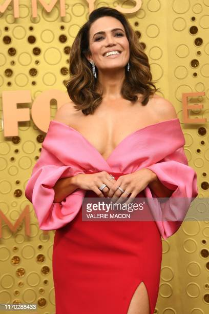 US actress Mandy Moore arrives for the 71st Emmy Awards at the Microsoft Theatre in Los Angeles on September 22 2019
