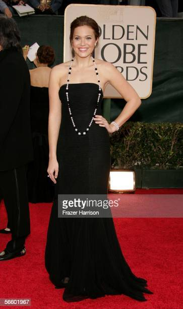 Actress Mandy Moore arrives to the 63rd Annual Golden Globe Awards at the Beverly Hilton on January 16 2006 in Beverly Hills California