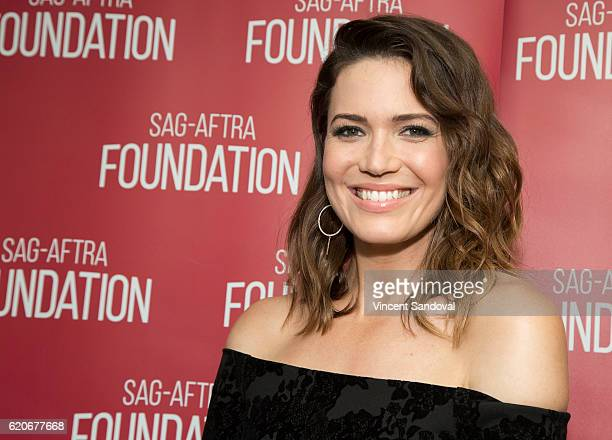 Actress Mandy Moore attends SAGAFTRA Foundation's Conversations with This Is Us at SAG Foundation Actors Center on November 2 2016 in Los Angeles...