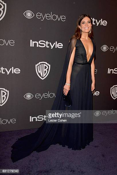 Actress Mandy Moore attends the 18th Annual PostGolden Globes Party hosted by Warner Bros Pictures and InStyle at The Beverly Hilton Hotel on January...