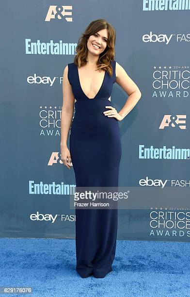 Actress Mandy Moore attends The 22nd Annual Critics' Choice Awards at Barker Hangar on December 11 2016 in Santa Monica California