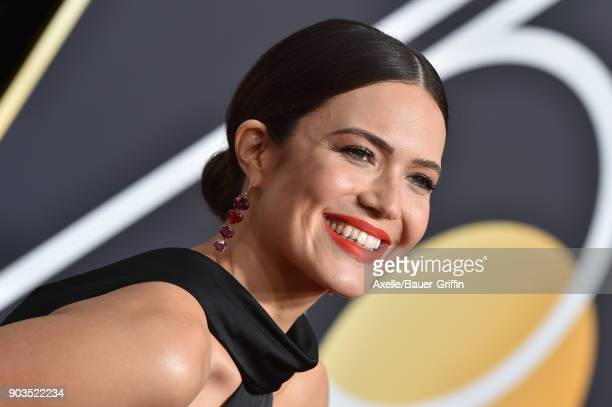 Actress Mandy Moore attends the 75th Annual Golden Globe Awards at The Beverly Hilton Hotel on January 7 2018 in Beverly Hills California